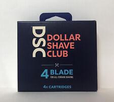 Dollar Shave Club 4 Blade Razor Cartridges-4 Count-NIB!
