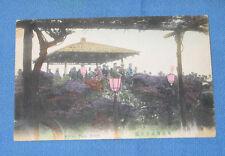 Vintage Hand Tinted Postcard - Hibiya Park Tokyo - FREE SHIPPING
