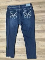 VGS By VIGOSS Women's Skinny Jeans Blue Denim Size 18 X 28 GREAT Clean Condition