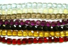 Semi Precious Stone Beads Faceted Squares