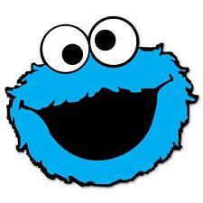 "Cookie Monster Sesame Street Vynil Car Sticker Decal   2.5"""