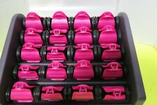 Remington H9096 20 Ceramic Hot Curlers Rollers W/Clips 2 Sizes Tested