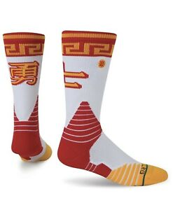 Stance Men's Golden State CNY Fusion Crew Basketball Sock Large (9-12)