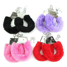 Sexy Adult Game SM Handcuffs Furry Hen Night Party Gift Restraint Bondage Kit#