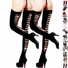 1-2 Fashion Women Stockings Plus Size Socks Tights Pattern Sheer Pairs Pantyhose