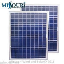 2 - 12 Volt DC 50 Watt Polycrystalline Solar Panels
