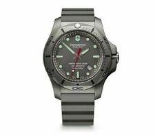 New Victorinox Pro Diver INOX Gray Dial Rubber Band Men's Titanium Watch 241810