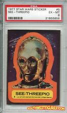 STAR WARS 1st Series Trading Card STICKER #5 See-Threepio - PSA (Topps 1977)