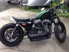 MCJ Big Short  Auspuff Komplettanlage für Harley Sportster Black mit EG-BE