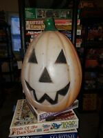 Vintage Empire Pumpkin Jack O Lantern Blow Mold Halloween Light 24""