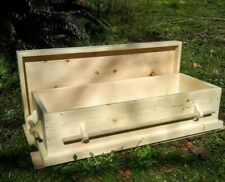 Pet Casket for large dog natural finish hand made and personalized name