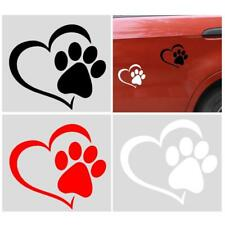 Dog Cat Paw Print With Heart Vinyl Decal Bumper Reflecting Sticker Car Window
