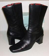 DONALD J PLINER Women's FRANCI Italian Black Leather Fashion Zipper Boots 9.5 N