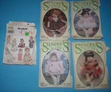 Syndee's Crafts Gabby Ann Victoria Pattern Doll Clothes Sewing Pattern Dress Lot