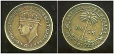 AFRIQUE de L'OUEST  1 one shilling 1938   ( british colony )