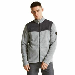 DARE2B MENS Charcoal and grey Bequeath sweater top fleece