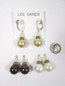 Lee Sands 14mm Interchangeable South Sea's Inspired Earrings