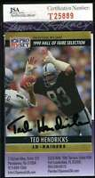 Ted Hendricks Jsa Coa Autographed 1991 Pro Set Authenticated Hand Signed