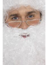 Christmas Father Christmas Santa Half Moon Silver Specs Fancy Dress Accessory