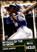 Hank Aaron 2020 Topps WARriors of the Diamond 5x7 Gold #WOD-3 /10 Braves