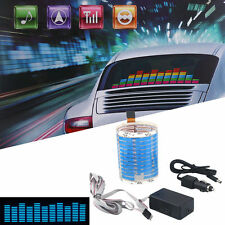 45 x 11cm Blue Sound Music Activated Sensor Car Sticker LED Light Equalizer