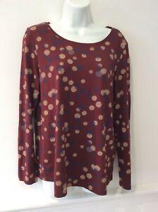 Esprit mauve, cream, purple cotton blend tunic top size uk M