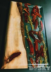 Timber Resin Serving Board. Chilli And Rosemary