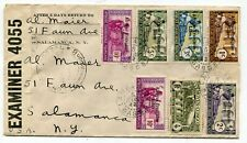 French Equatorial Africa - Gabon 1942 Multiple Franking WWII Censor Cover to USA
