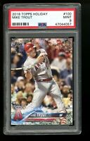 2018 Topps Holiday #100 Mike Trout Los Angeles Angels PSA 9 MINT!