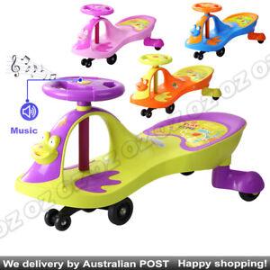 Swivel Scooter Wiggle Gyro Swing Car Kid Toy Car Child Music Ride On Twist & Go