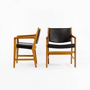 1965 Hans Wegner Johannes Hansen JH 507 Oak Dining Chairs from Harvard 12x Avail