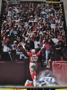 """49ers Jerry Rice 1995 Nike Poster 23""""x35"""" Just Did It 139 Touchdowns- New"""