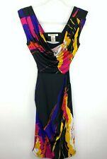 Arden B Womens Size XS Dress Open Back Mesh Floral Geometric