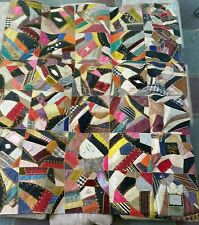 19th Century Hand Made Crazy Quilt 1884  vibrant coloring signed