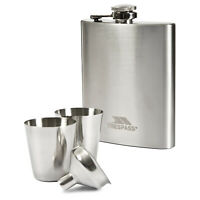 Trespass Stainless Steel Hip Flask Drink Holder With Funnel
