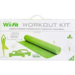 NEW Wii Fit Workout Kit (Green) Yoga mat, weights and more