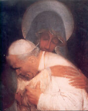 Pope John Paul II Embraced by Virgin Mary 8x10
