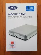 LaCie - Mobile Drive 4TB External USB 3.1 Gen 2 Portable Hard Drive - Silver ...