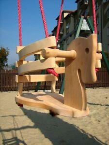 Babyschaukel Pferdschaukel Kinderschaukel Holzschaukel PFERD bis 20 kg NEU