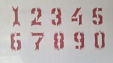2388 Schablone Zahlen 1 - 0 Wandtattoos Vintage Tattoo Schablonen Shabby Stencil