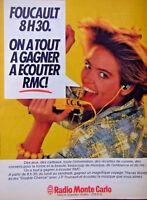 PUBLICITÉ 1984 RMC RADIO MONTE CARLO JEAN-PIERRE FOUCAULT ON A TOUT A GAGNER