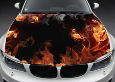 Flame Flowers Hood Full Color Graphics Wrap Decal Vinyl Sticker Fit any Car #022