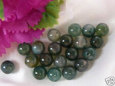 20x NATURAL MOSS AGATE, 8mm, round beads