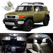 8 x Xenon White LED Interior Light Package Kit For Toyota FJ Cruiser 2007 - 2014