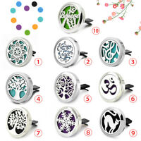 10Types Nice Stainless Car Air Vent Freshener Essential Oil Diffuser Locket Car
