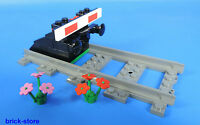 ++++++LEGO® Eisenbahn gerade Schiene mit  Prellbock Nr.4 / schwarz  mit Puffer