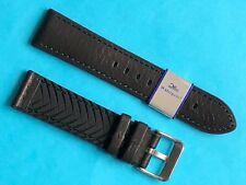 Eulit Silikon/Leder Uhrband schwarz 22mm Modell Eutec -waterproof Band
