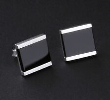 Georg Jensen Sterling Silver Aria Earrings with Black Agate / Onyx # 612B. NEW