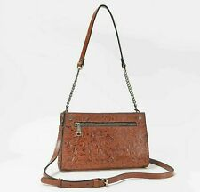 New ListingPatricia Nash *Turati* Leather Florence Tan Tooled Pattern Cross-body Handbag