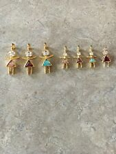 Gold Tone Big and Little People Triangle Birthstone for Bodies Charms lot of 6